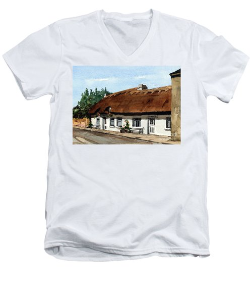 F 709 Mcdonaghs Pub  Oranmore Galway Men's V-Neck T-Shirt
