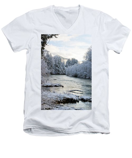 Men's V-Neck T-Shirt featuring the photograph Mckenzie River by Belinda Greb