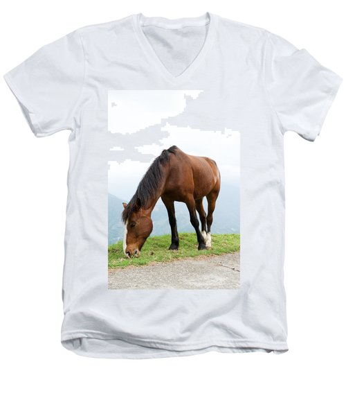 Men's V-Neck T-Shirt featuring the photograph Meal Time by Yew Kwang