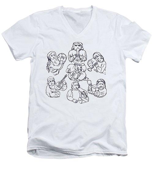 Medieval Musicians Men's V-Neck T-Shirt