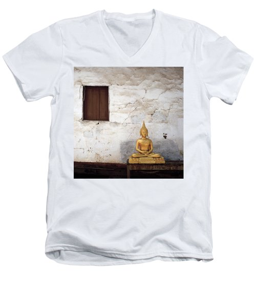 Meditation In Laos Men's V-Neck T-Shirt
