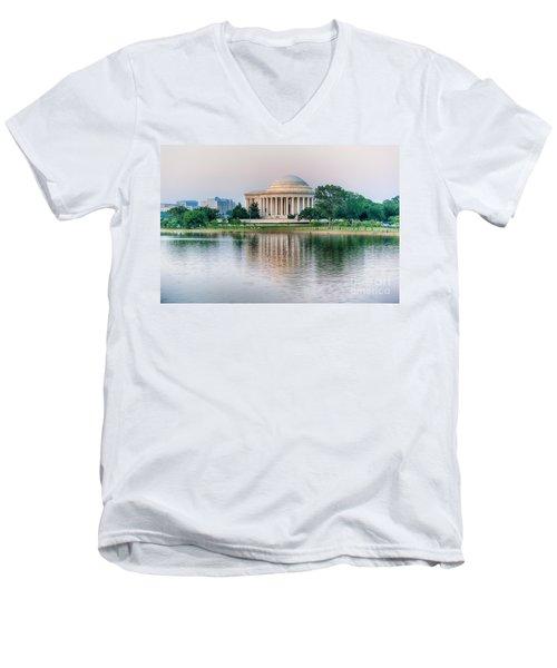 Memorial Sunset Men's V-Neck T-Shirt