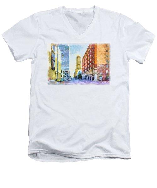 Memphis City Street Men's V-Neck T-Shirt
