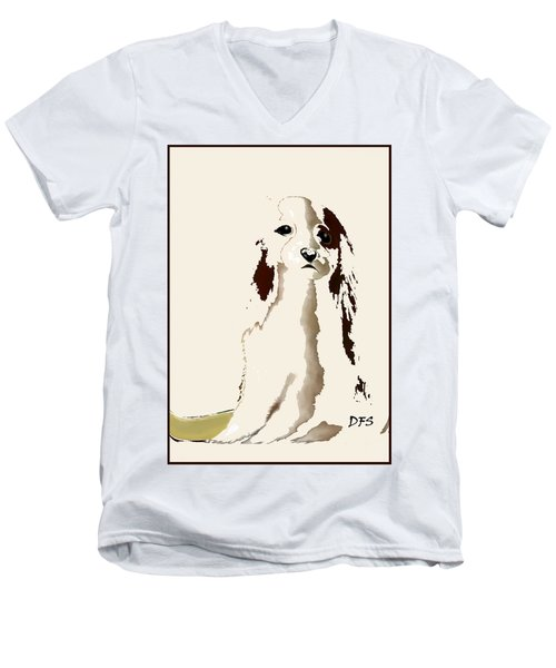Mercedes  - Our Cavalier King Charles Spaniel  No. 9 Men's V-Neck T-Shirt