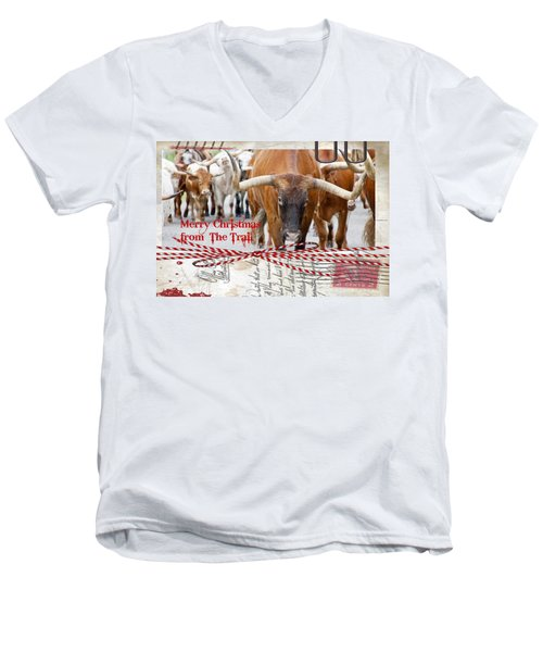 Merry Christmas From The Trail Men's V-Neck T-Shirt