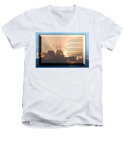 Message From Heaven Men's V-Neck T-Shirt