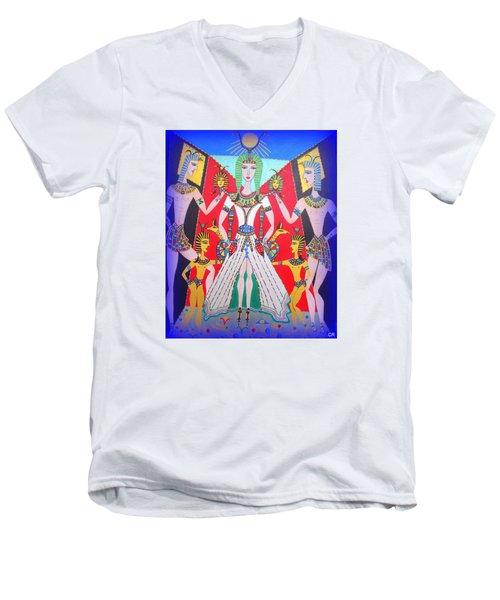Metamorphosis Of Melisa Into Nefertiti Men's V-Neck T-Shirt
