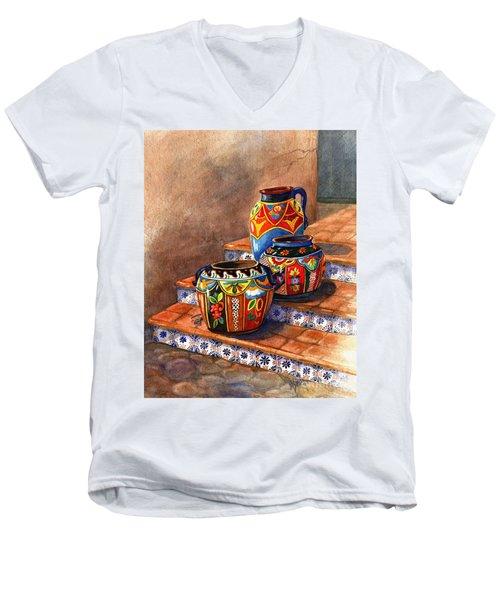 Mexican Pottery Still Life Men's V-Neck T-Shirt