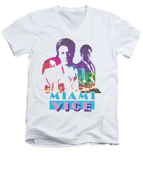 Miami Vice - Crockett And Tubbs Men's V-Neck T-Shirt by Brand A