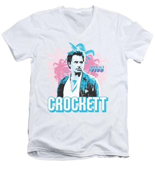 Miami Vice - Crockett Men's V-Neck T-Shirt