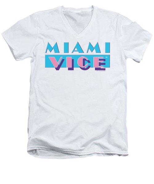 Miami Vice - Logo Men's V-Neck T-Shirt