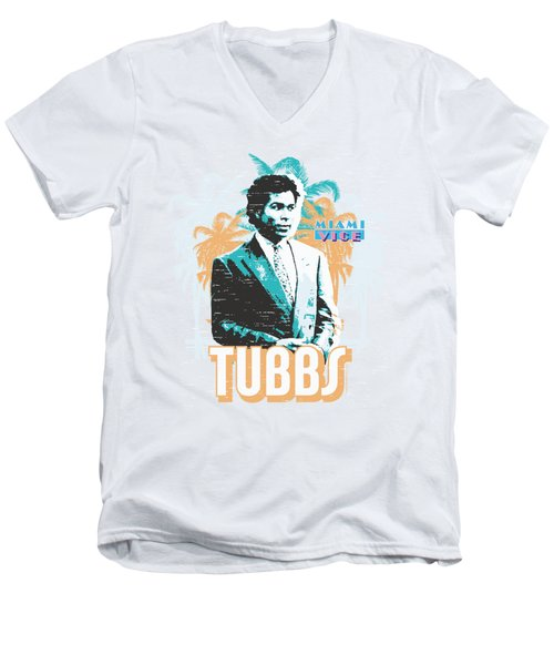 Miami Vice - Tubbs Men's V-Neck T-Shirt by Brand A