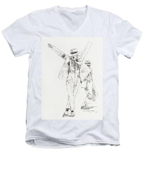 Michael Smooth Criminal Men's V-Neck T-Shirt