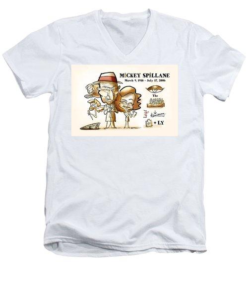 Mickey Spillane Men's V-Neck T-Shirt