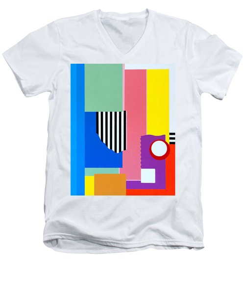 Mid Century Compromise Men's V-Neck T-Shirt by Thomas Gronowski