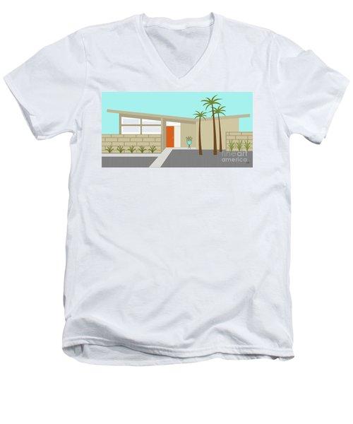 Mid Century Modern House 1 Men's V-Neck T-Shirt