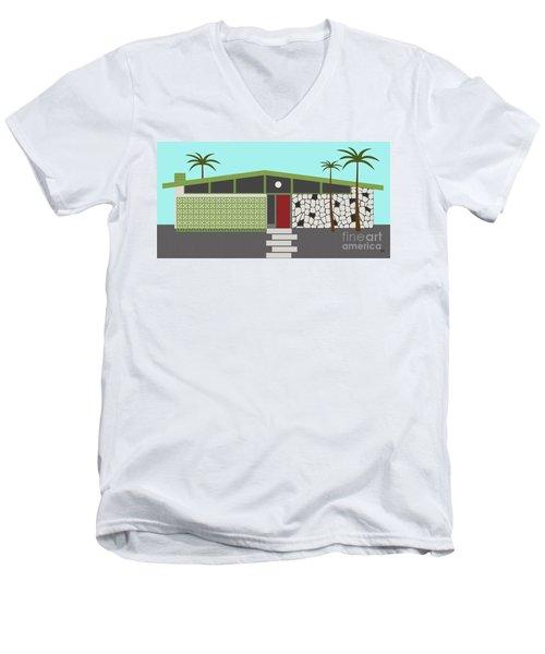 Mid Century Modern House 4 Men's V-Neck T-Shirt