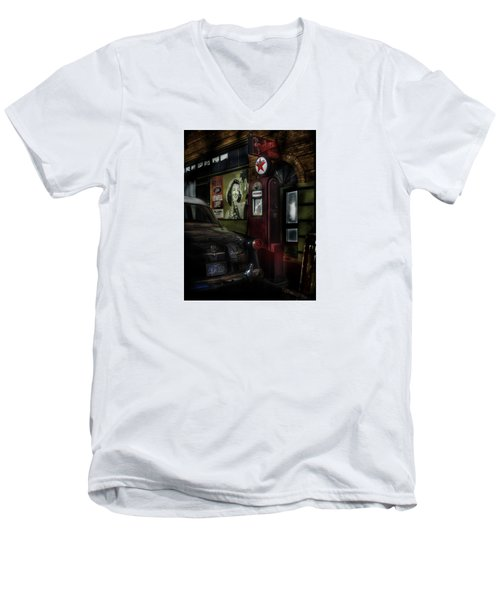 Midnight Fill Up Men's V-Neck T-Shirt by Gary Warnimont