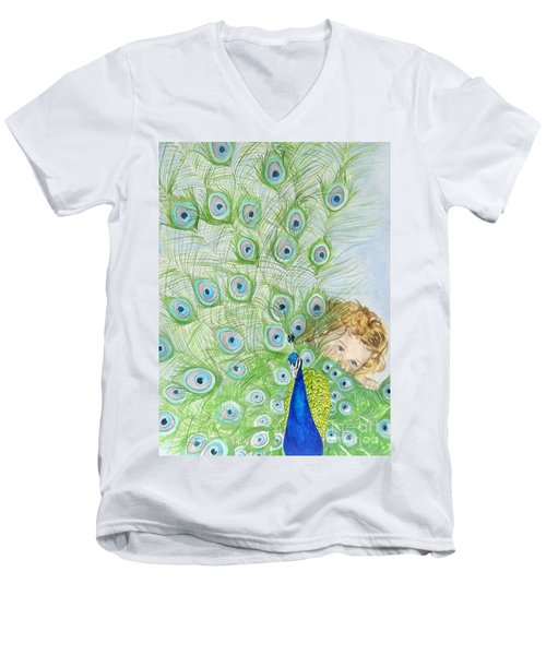 Mika And Peacock Men's V-Neck T-Shirt