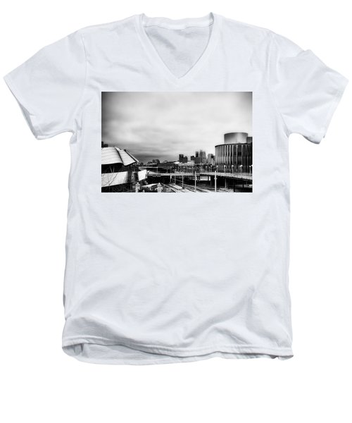 Minneapolis From The University Of Minnesota Men's V-Neck T-Shirt by Tom Gort