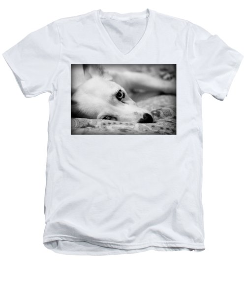 Men's V-Neck T-Shirt featuring the photograph Miss Donut  by Faith Williams