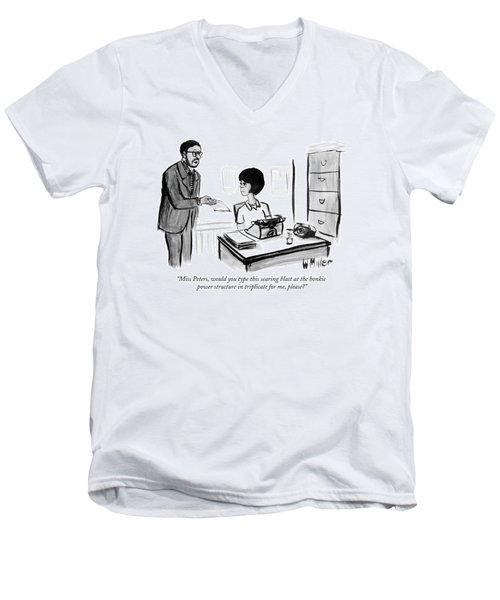 Miss Peters Men's V-Neck T-Shirt