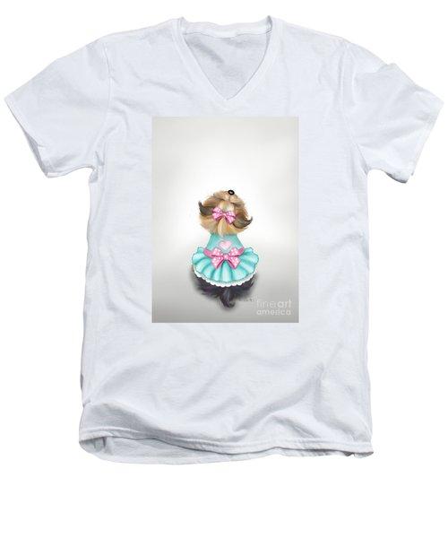 Miss Pretty Men's V-Neck T-Shirt by Catia Cho