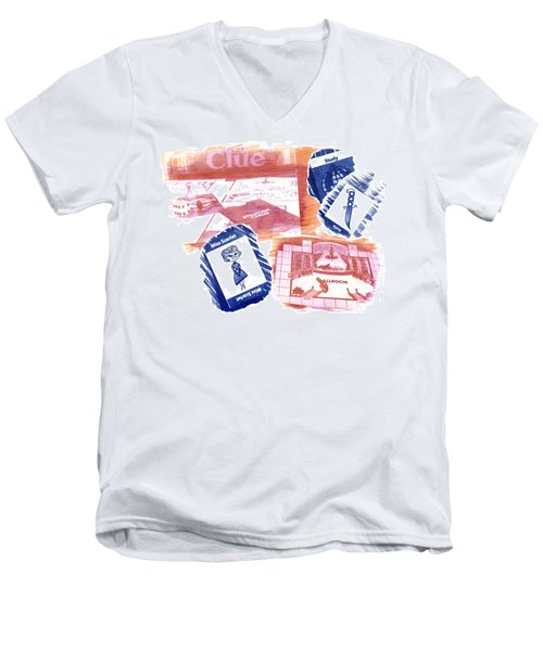 Miss Scarlet In The Study With A Knife Men's V-Neck T-Shirt