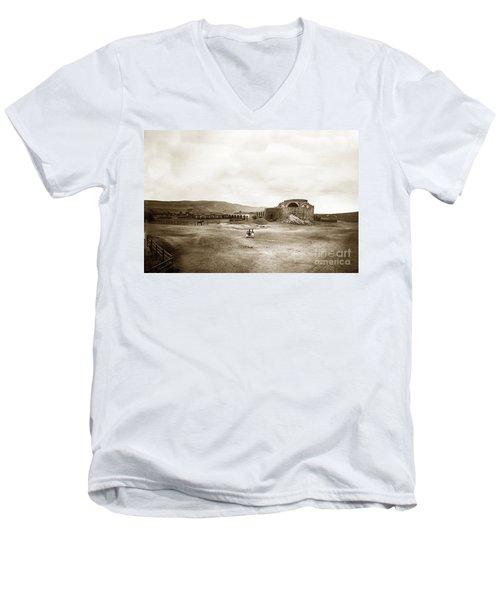 Mission San Juan Capistrano California Circa 1882 By C. E. Watkins Men's V-Neck T-Shirt