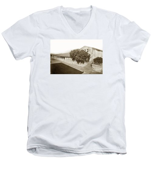 Mission San Luis Obispo De Tolosa California 1880  Men's V-Neck T-Shirt