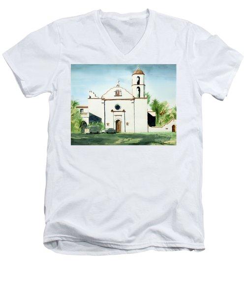 Mission San Luis Rey Colorful II Men's V-Neck T-Shirt