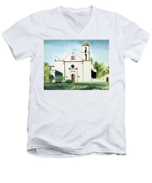 Mission San Luis Rey Colorful II Men's V-Neck T-Shirt