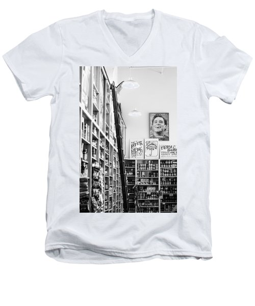 Modica Market - Black And White Men's V-Neck T-Shirt by Shelby  Young