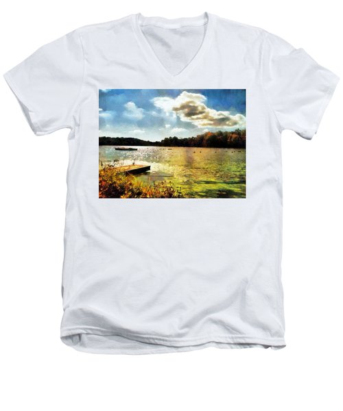 Mohegan Lake Gold Men's V-Neck T-Shirt