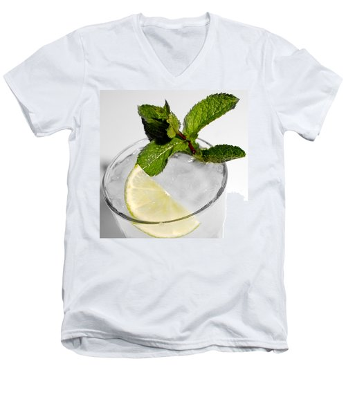 Mojito Detail Men's V-Neck T-Shirt