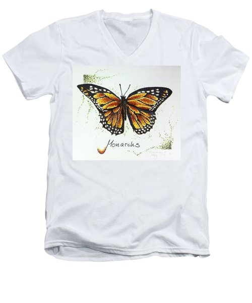 Monarchs - Butterfly Men's V-Neck T-Shirt
