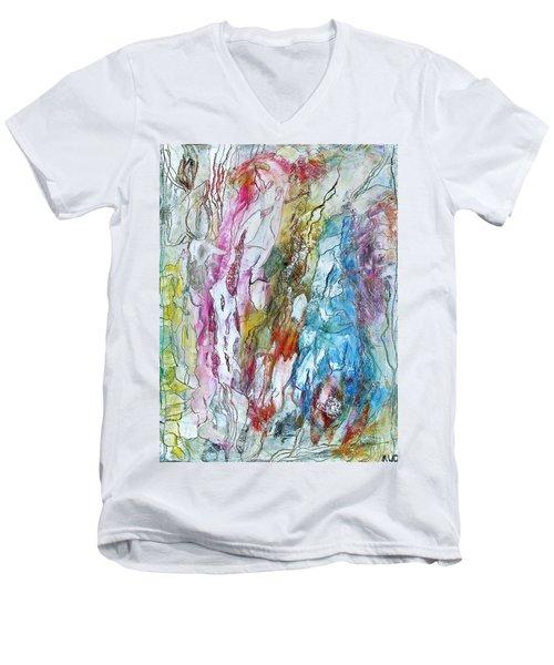 Monet's Garden Men's V-Neck T-Shirt