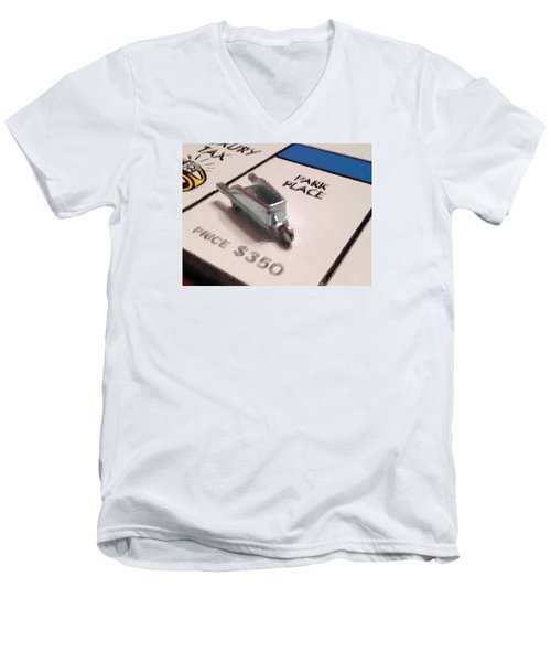 Monopoly Board Custom Painting Park Place Men's V-Neck T-Shirt
