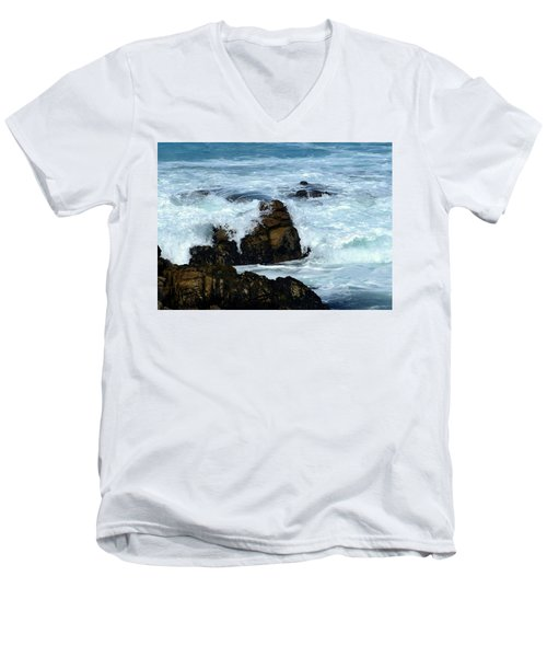 Men's V-Neck T-Shirt featuring the photograph Monterey-2 by Dean Ferreira