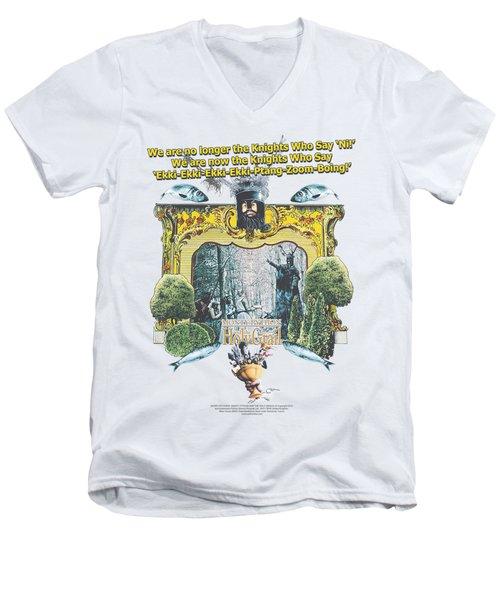 Monty Python - Knights Of Ni Men's V-Neck T-Shirt