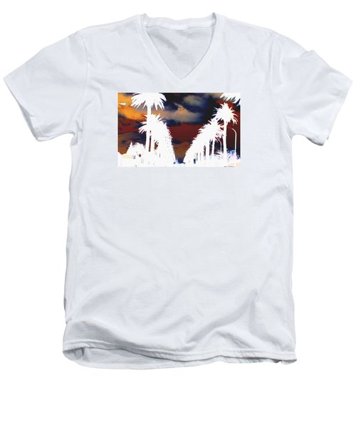 Men's V-Neck T-Shirt featuring the photograph Moody Blues by Linda Hollis