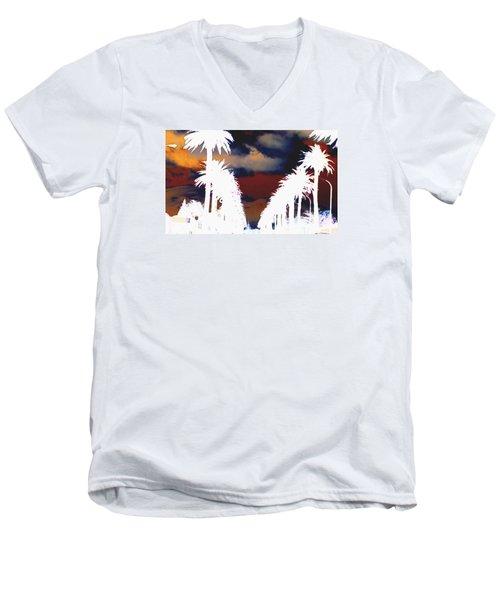 Moody Blues Men's V-Neck T-Shirt by Linda Hollis