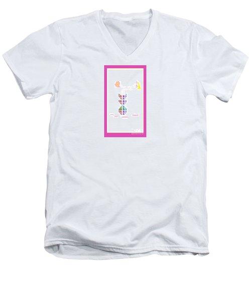 Moon Flower 2 Men's V-Neck T-Shirt