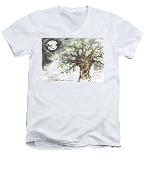 Moon Whisper  Men's V-Neck T-Shirt by Teresa White