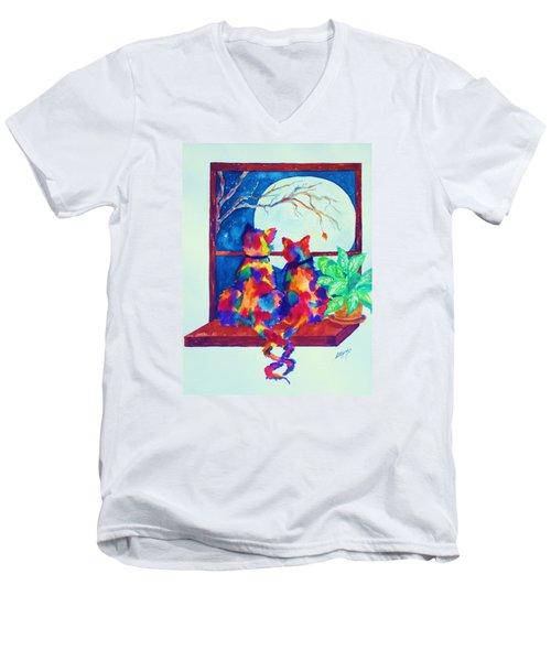 Moonstruck Ll Men's V-Neck T-Shirt