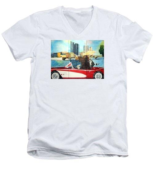 Moose Rapids Il Men's V-Neck T-Shirt