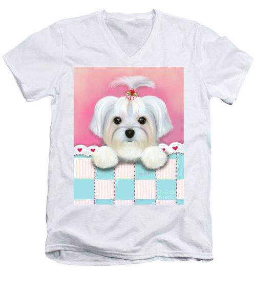 Morkie Shelly Men's V-Neck T-Shirt