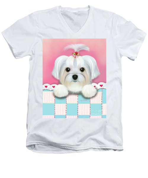 Morkie Shelly Men's V-Neck T-Shirt