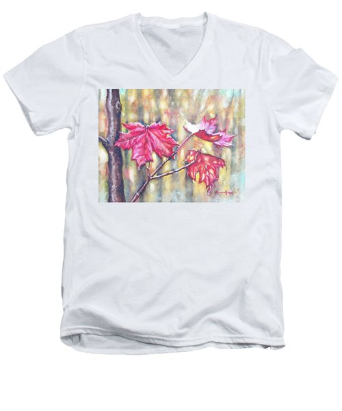 Morning After Autumn Rain Men's V-Neck T-Shirt by Shana Rowe Jackson