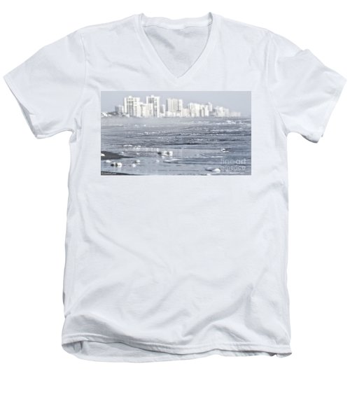 Men's V-Neck T-Shirt featuring the photograph Morning Dreams In Daytona by Janie Johnson